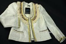 Guess By Marciano Mirrored Beaded Crop Open Front Evening Jacket 0 XS NWT $218