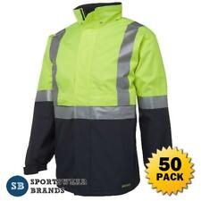 50 x Hi Vis Day Night Jacket 3M Tape Waterproof Workwear Safety Size S-5XL 6DATJ