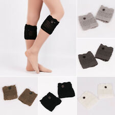 New Womens Crochet Knitted Lace Trim Boot Cuffs Toppers Leg Warmers Winter Sock