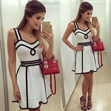 Women Summer Casual Sleeveless Evening Party Cocktail Dress Short Mini Dress