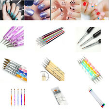 3/5/8/15pcs Nail Art Design Set Dotting Painting Drawing Polish Brush Pen Tools