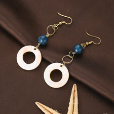Fashion Earrings Geometric Circles Dangle Beads Hook Eardrop Jewelry Engaging