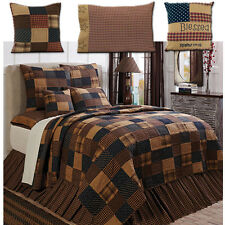 Patriotic Patch Americana Primitive Country Quilt & Pillows Shams 7Pc Queen King