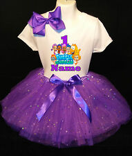 Bubble Guppies *With NAME* 1st first 1 Birthday Purple Tutu dress Fast Shipping