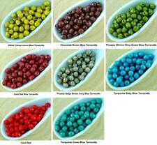 100pcs Opaque Round Faceted Fire Polished Small Spacer Czech Glass Beads 4mm