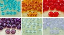20pcs Crystal Clear Round Faceted Fire Polished Spacer Czech Glass Beads 8mm