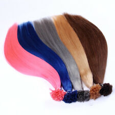 "Economical Remy Nail tip Human Hair Extensions 16""-26"", Free USPS Mail USA Stock"