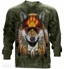 NATIVE AMERICAN INDIAN WOLF WOLVES Long Sleeve T Shirt The Mountain Tee S-3XL