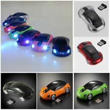 2.4G 1600DPI Mouse USB Receiver Wireless Light LED Car Shape Optical Mice New