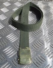 """Military Style 1"""" Roll buckle Canvas Web Belt Silver or Brass buckle All Colours"""