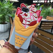 2017 3D Ice Cream Soft Silicone Phone Case Rubber Skin Cover For iPhone 6 7 Plus