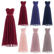 Women Formal Long Maxi Dress Prom Evening Party Bridesmaid Wedding Chiffon Dress
