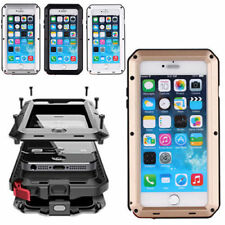 Shockproof Aluminum Glass Metal Case Cover For iPhone 7 6 6S Plus 5S SE