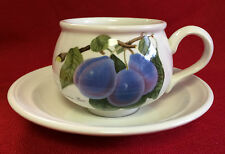*PORTMEIRION* POMONA* Coffee Tea Cups & Saucers  EXCEL - Fruit Pattern