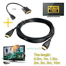 HDMI Cable Male to Male V1.4 HD 1080P Cord+HDMI Female to DVI Male Cable Adapter