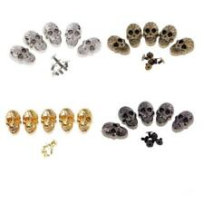 5 Sets Screw Skull Head Rivet Spike Studs Spots DIY Punk Shoes Bag Clothes Craft