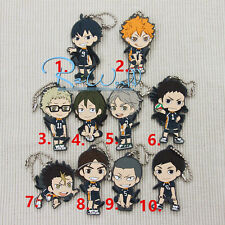 T106 Hot Japan anime haikyuu rubber Keychain Key Ring Rare