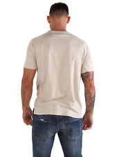 883 Police Normal Stone Plain Small Chest Pocket Crew Neck T-Shirt Tee Top