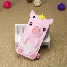 1Pcs Phone Bag iPhone 5/5S/SE Crown Pig 4.0 inch Phone Case Silicone Shell Cute