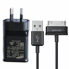 For Samsung Galaxy Tab Genuine Black Fast Wall Charger AU Adapter+2M 30Pin Cable