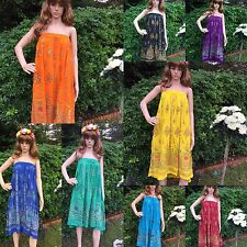 New Gypsy Ladies Party Boho Hippie Long Sequin Skirt Dress Rayon flaired  Size