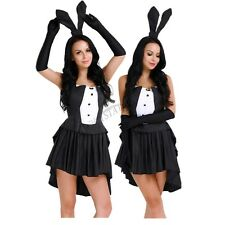 Adult Bunny Girl Rabbit Women Cosplay Halloween Costume Party Fancy Dress Outfit