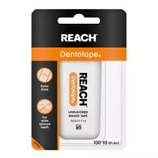 Reach Dentotape Waxed Dental Floss, Unflavored, 100 yards