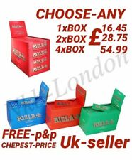 Rizla GREEN/RED/BLUE STANDARD Thin Rolling Cigarette Papers 100/200/400 BOOKLETS