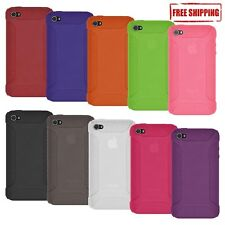 NEW AMZER BRANDED SOFT SILICONE SKIN GEL CASE COVER FOR APPLE iPHONE 4 4S