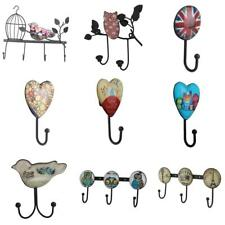 Wall Mounted Coat Cloth Robe Hat Hook Rack Hanger Metal Holder Vintage - PICK