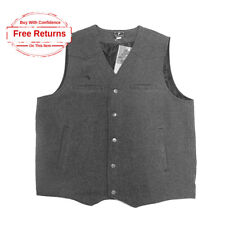 Wyoming Traders Classic Wool WESTERN COWBOY VEST, Charcoal Gray