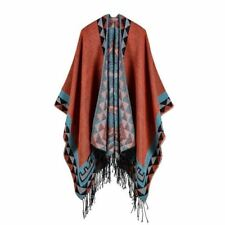 Women Knitting Poncho Winter Ladies Scarves Blanket Autumn Shawl Foulard