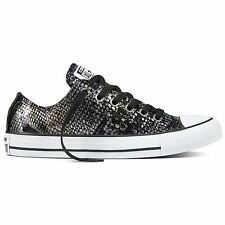 Converse Chuck Taylor All Star Ox Black Womens Lace Up Leather Trainers