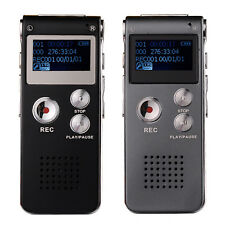 8GB Digital Audio Voice Recorder Rechargeable Dictaphone Phone MP3 Player 3Modes