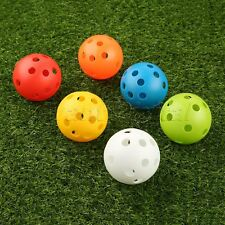 6 Color Perforated Practice Golf Balls Air Flow Ball Golf Or Tennis Practicing