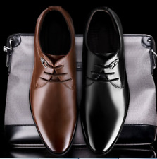 Chic Mens Pointed Toe Lace Up Business Leather Brogue Dress Oxfords Shoes Size