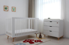 SLEIGH COT PACKAGE - COT/CRIB,CHANGE TABLE,CHEST OF DRAWER , BABY MAT & MATTRESS