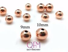 5pcs Red Gold Filled Bead, Pink Gold Filled Bead, 1/20 14K, Seamless Spacer