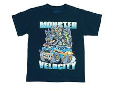 "RB Rudeboyz Navy ""Monster Velocity"" Graphic T-Shirts Little Boys Large (7)"