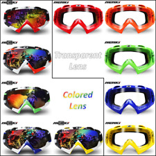 Adult Goggles Motocross Motorcycle ATV Dirt Bike Glasses Eyewear Clear Colored