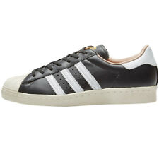 adidas Originals Superstar 80s Leather Black Sneaker Women's Shoes Retro
