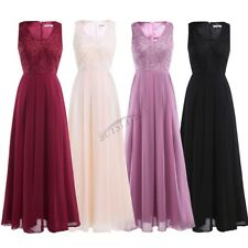 Women Formal V Bridesmaid Ball Prom Gown Evening Party Cocktail Long Maxi Dress