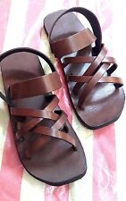 SUMMER VTG-70'S Festival Hippie Sandals Toe Strap Ankle Leather Boho Cute Shoes