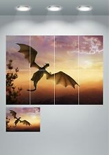 Dragon Kids Cartoon Bedroom Fantasy Giant Wall Art poster Print