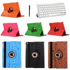 Bluetooth Keyboard+ 360 Swivel Rotating Leather Case Stand Cover For iPad 2 3 4