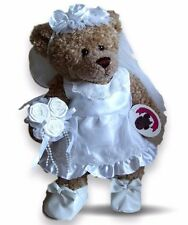 Teddy Bear Clothes fit Build a Bear Wedding Bride Flower Girl Outfit +FREE Shoes