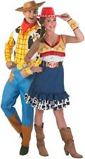 Couples Mens AND Ladies Toy Story Woody Jessie Fancy Dress Costumes Outfits