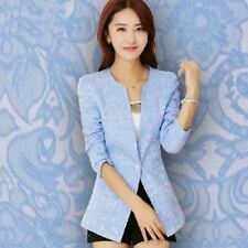 Women Fashion Slim One Button Casual Suit Jacket Long-sleeved Blazer