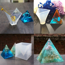 Pyramid Shape Silicone Mold for Resin Casting Jewelry Crafts Making Mould Tool
