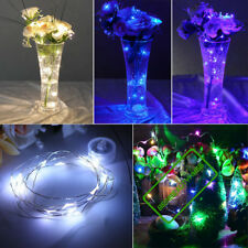 Micro 20/40LED Copper Wire Fairy String Light Coin Battery Operated Wedding Vase